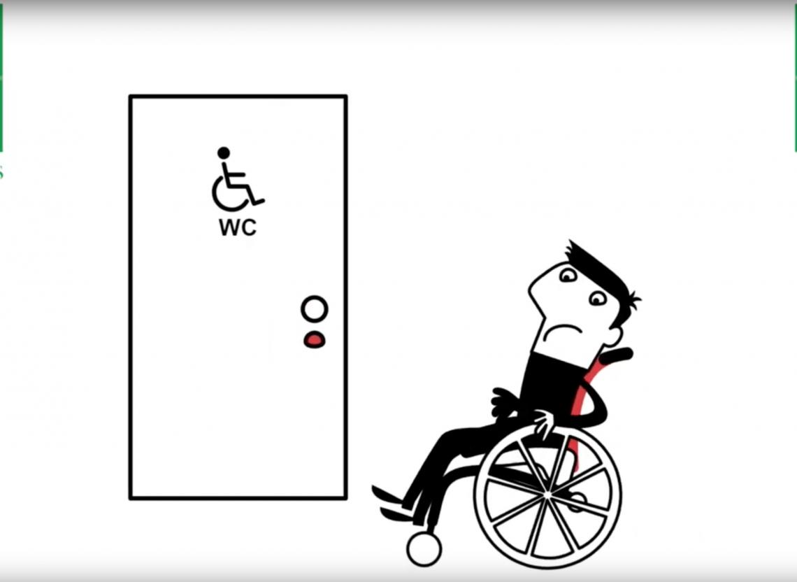 O4 Wheelchairs Animatie werkfrustraties van rolstoelgebruikers